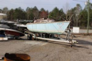 1972 O'Day 22 Sailboat Salvage Parts