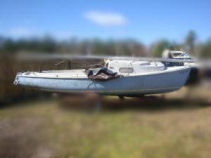 1966 O'Day Mariner 19' Sailboat Salvage